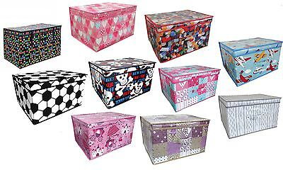 Large Toys & Books Foldable Storage Chest For Children Keeps Rooms Tidy Box New