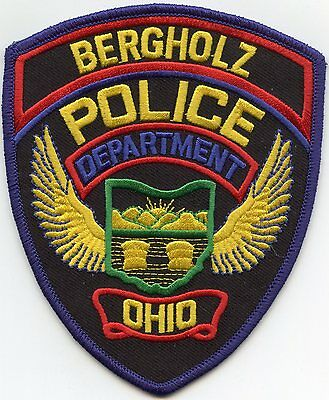 Bergholz Ohio Oh Police Patch