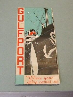 1944 Gulfport Mississippi Where Your Ship Comes In Vintage WWII Travel Brochure