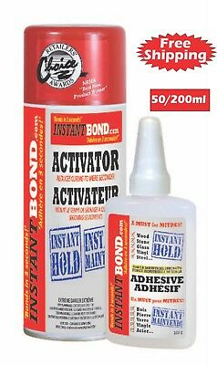 Instantbond 50ml Strongest Adhesive Gel/ 200ml Activator  3 Second! Instant hold