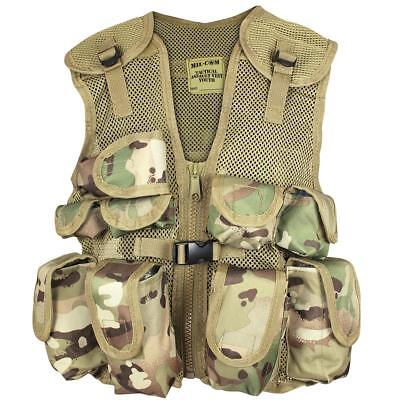 Military Style Mil-Com Kids Army Assault Vest Mulitcam Airsoft Fishing Hunting