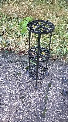 wrought iron plant pot stand