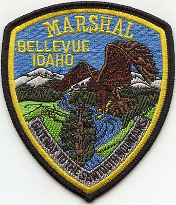 BELLEVUE IDAHO ID Gateway To The Sawtooth Mountains MARSHAL POLICE PATCH