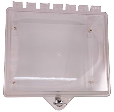 Sti Control Panel Case Polycarbonate Protective Cabinet For Fire Alarm Security