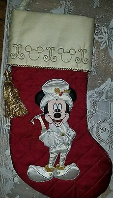 Disney World Parks Mickey Mouse Victorian Christmas Stocking Hard to find