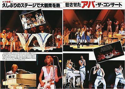 ABBA on Stage in Los Angeles 1979 JPN PICTURE CLIPPINGS 2-Sheets #NJ/O