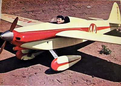 "Vintage SHOESTRING 33"" UC Scale Racer Model Airplane PLAN + Construction Article"