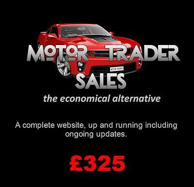 Motor Trader Website Custom Designed To your Specification Inc Updates £325
