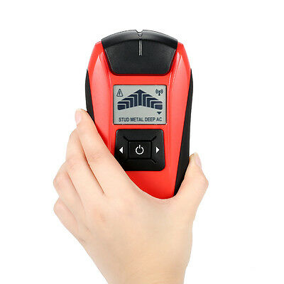 LCD Wall Detector Stud Finder Metal Wood AC Cable Live Wire Scanner Tester Tool