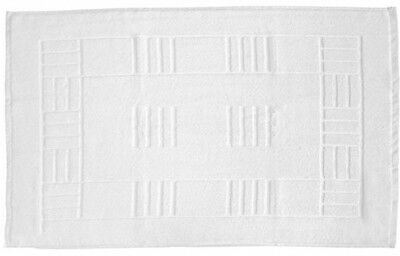 Just Contempo Egyptian Cotton Bath Mat, White