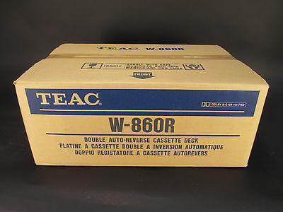 Vintage TEAC Double Auto-Reverse Cassette Player Model W-860R NEW in BOX