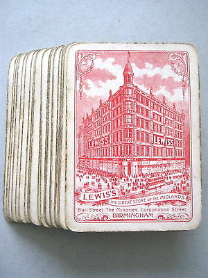 GOODALL ANTIQUE PLAYING CARDS FOR LEWIS'S GREAT STORE OF MIDLANDS BIR'M 1890s
