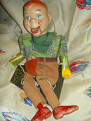 """BUFFALO BOB c1950 (from """"Howdy Doody"""" TV show) composition Marionette doll"""