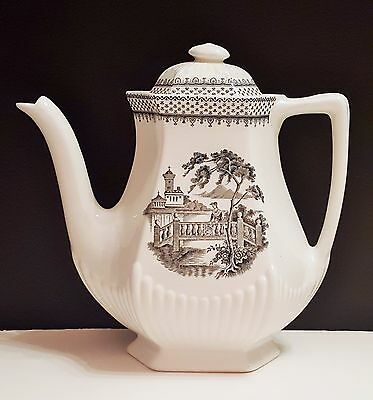 Adams Real English Ironstone Minuet ceramic Coffee Pot