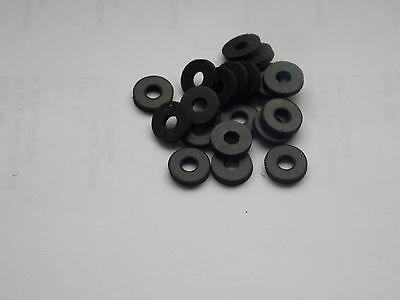 "20 Rubber Washers 1/2"" od x 3/16"" id x 2mm thick"