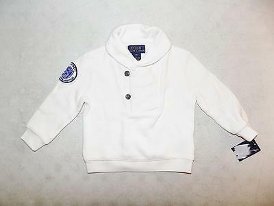 Polo Ralph Lauren Baby Boys Pullover Sweater Off White Cotton NWT Size 9M