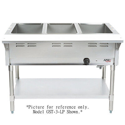 APW Wyott GST-2-LP Champion Hot Well Steam Table - Uses LP Gas