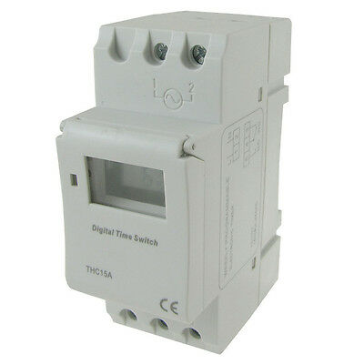 Digital LCD DIN Programmable Weekly Rail Timer AC 220V 16A Time Relay Switch Use