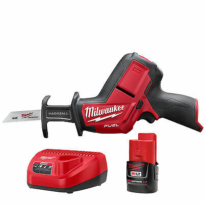 M12 FUEL HACKZALL Recip Saw w/ 2.0Ah Battery + Charger Milwaukee 2520-20 New