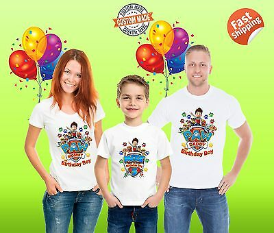 Paw Patrol Birthday Shirts, Personalized Paw Patrol Birthday Party outfits, Gift