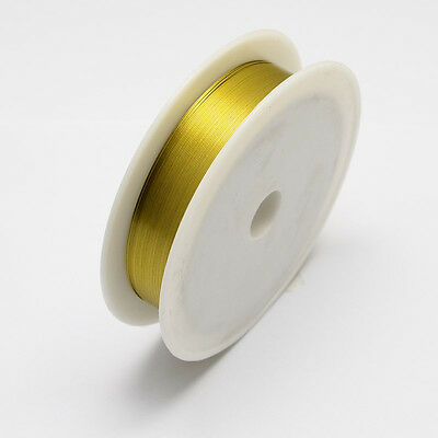 Iron Wire Gold 1Roll 0.5mm approx. 7m/roll Steel Wire Cable Jewelry Making DIY