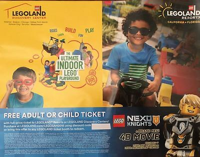 LEGOLAND Discovery Center / Resort Free One Day Ticket Summer 2016