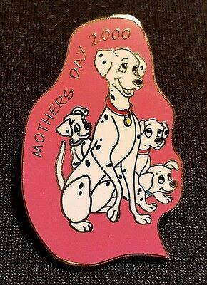 Retired 2000 Disney Wdw Mother's Day 101 Dalmatians Perdita Puppies Pin Le 5000