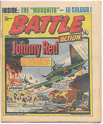 Battle Action 6 Dec 1980 (very high grade) Charley's War, Rat Pack, Johnny Red