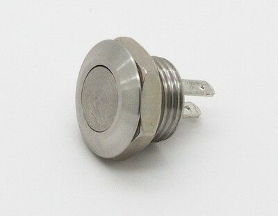 Mitec MSW-1201 12mm Stainless Steel PushButton Switch Flat Top
