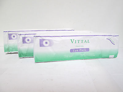 Vittal Contoured 3-Ply Facial Eye Pads - 100 count (3 pack) [MB-A-V]
