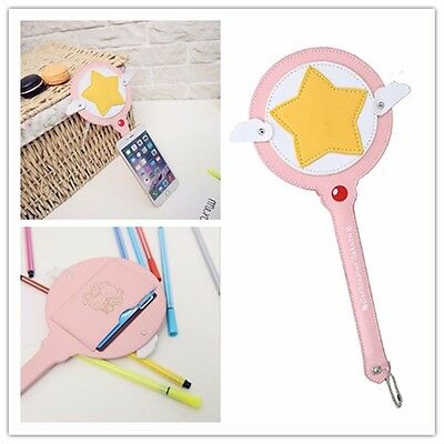 Anime Card Captor Sakura Kinomoto Star Wand Credit Card Holder Bus IC Case Bag