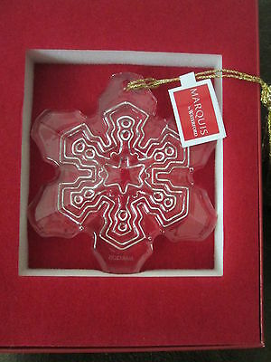 WATERFORD MARQUIS $30 Lead Crystal 2015 Annual Snowflake Christmas Ornament NIB