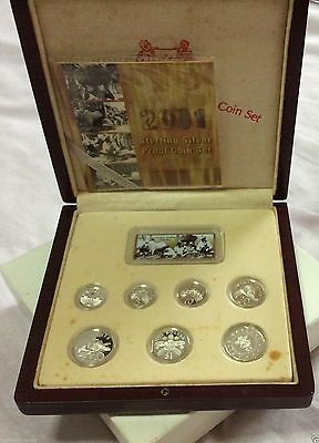 2001 Singapore Sterling Silver Proof Coin Set