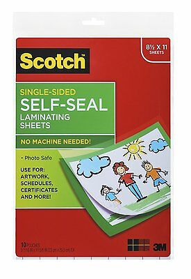 """10 PACK Self-Sealing Laminating Sheets Document Letter Size 6 Mil, 8 1/2"""" x 11"""""""