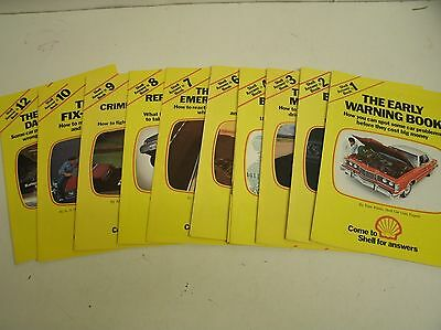 Lot of 11 Shell Oil - 1976 Shell Answer Book series