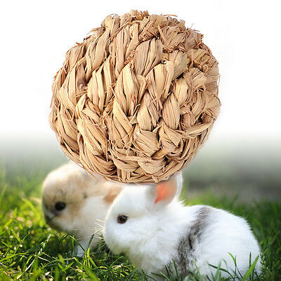 Attractive Exercise Natural Grass Ball Hamster Mice Cat Rabbit Gerbil Play Toy