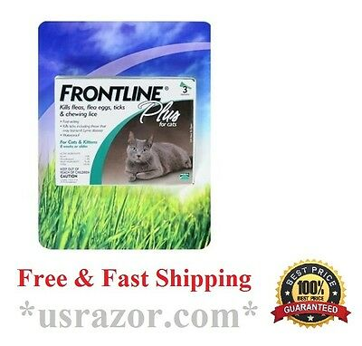 FRONTLINE Plus for Cats 3 doses Months Fleas, eggs &Larvae, ticks, Chewing Ice
