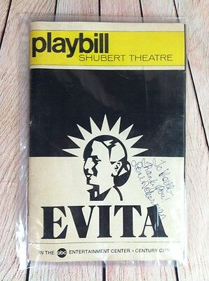 June 1980 Playbill Shubert Theatre EVITA Signed Loni Ackerman