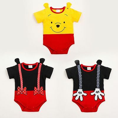 One piece Toddler Baby Boy and girl Romper Jumpsuit Cartoon Clothes Onesies