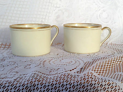 """6 Fitz & Floyd """"Palais"""" Cups cream/ivory with gold rim(542)"""