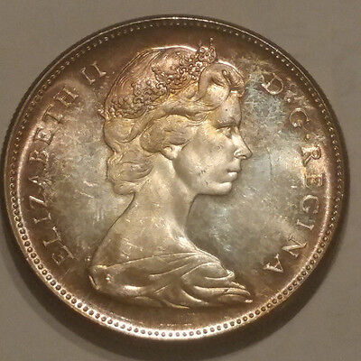1867-1967 Silver Canadian Dollar Proof-Like Attractively Toned