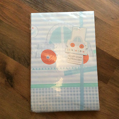 little beep beep duvet cover and pillowcase set cot /cot bed bnwt