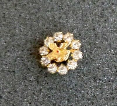 Moose PAP LOOM Fraternal Order Lapel, Hat Pin. Gold Tone Ring w Bright Crystals