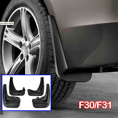 4Pc Molded Mud Flaps Fit For 2012-2016 Bmw 3 Series F30 F31 Splash Guards Fender