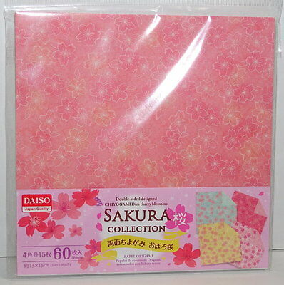 60sheets Double Sided Origami  Paper Sakura A  4 Patterens From Japan