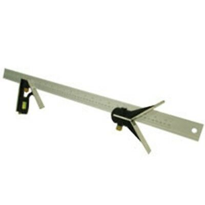 "24"" Long Combination Try Square Sliding Ruler Angle Tool Rule Combo"