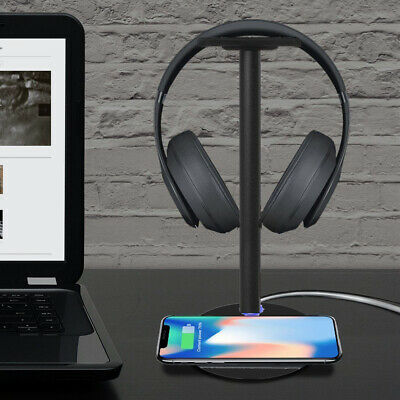 Wireless Charger with Earphone Headset Holder Headphone Stand For Huawei Mate 20