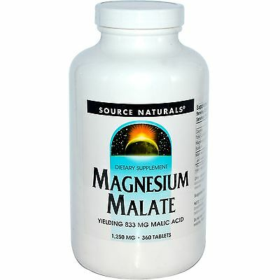 Source Naturals Magnesium Malate 1,250 mg 360 Tablets