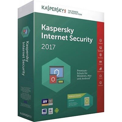 Kaspersky Internet Security Multi-Device 2017 3 Pc 1 Anno Licenza Esd