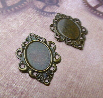Antique Bronze Cabochon Thin Setting Pack of 30